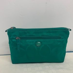 Coach signature Fabric cosmetic case/pouch